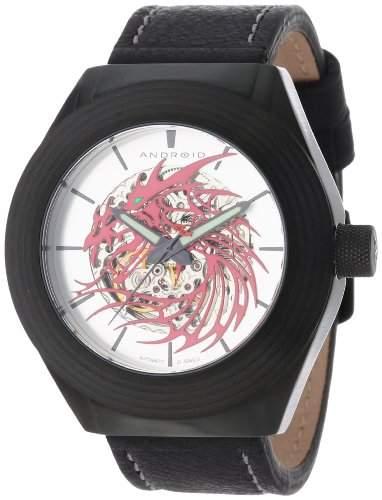 Android Herren AD651BKR Tattooed Dragon Automatic Skeletonized Armbanduhr