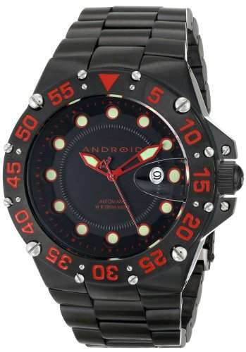 Android Mens AD731BKR Analog Display Japanese Automatic Black Watch