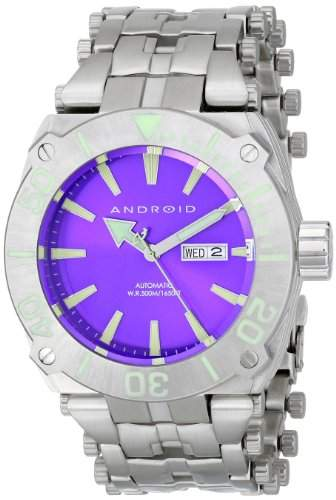 Android Herren-Armbanduhr 48mm Armband Edelstahl + Gehäuse Automatik Zifferblatt Rosa Analog AD734BPU