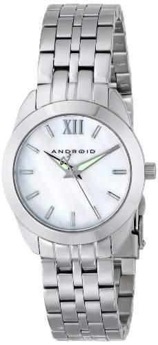 ANDROID Damen AD771AW Idyllic Analog Japanese-Quartz Silver Armbanduhr