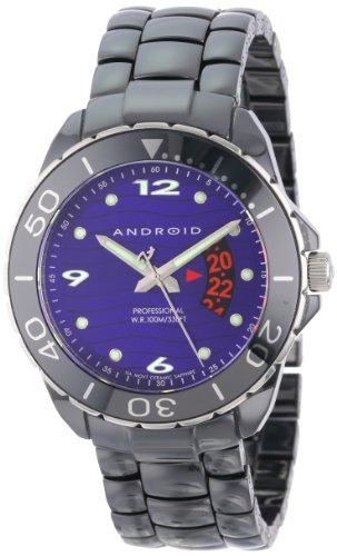 Android Herren Exotic Divemaster Schweizer Quartz Ceramic Uhr Purple Dial AD417AKPU