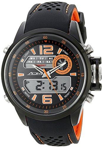 American Design Machine Herren ADS 4006 ORG St Louis Analog Digital Display Japanisches Quarz orange Armbanduhr