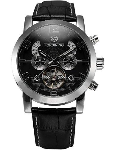 AMPM24 Automatikuhr Mechanische Armbanduhr Armband aus Kunstleder AMPM24 Geschenkbox PMW373