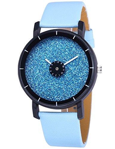 AMPM24 Elegant Quarz Uhr mit Blau Zifferblatt und Blau Leder Armband WAA937