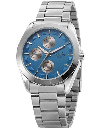 AMPM24 Analog Klassisch Quarzuhr Blau Zifferblatt Uhr WAA914