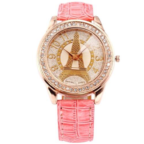 AMPM24 Eiffelturm Armbanduhr Quarzuhr Leder
