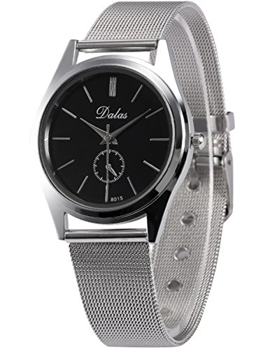 AMPM24 Herren Unisex Quarzuhr Silber Armband aus Metall WAA757