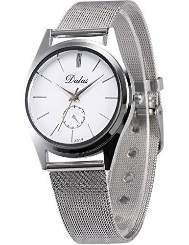 AMPM24 Herren Unisex Quarzuhr Silber Armband aus Metall WAA758
