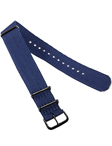 20 mm Nylon Uhrenband Durchzugsband Uhrenarmband Uhren Armband Band Unisex Neu