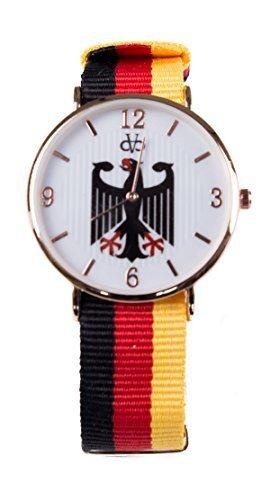 Stoff Armband Streifen Uhr Analog Quarz Deutschland
