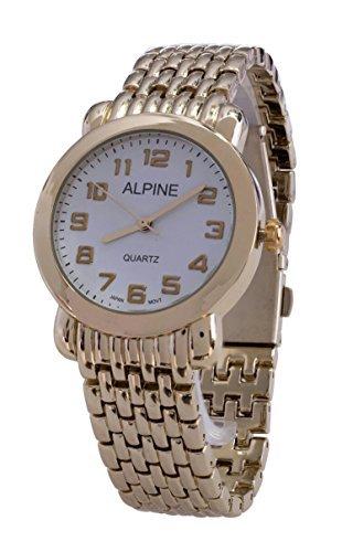 Alpine Vergoldetes Metall Retro Ziffernblatt Japanisches Uhrwerk