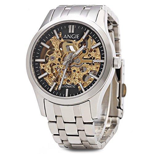 Leopard Shop Angie st7183l frederis Serie automatische Wind Mechanische Uhr Hollow Zifferblatt Luminous 5 ATM Sport 1