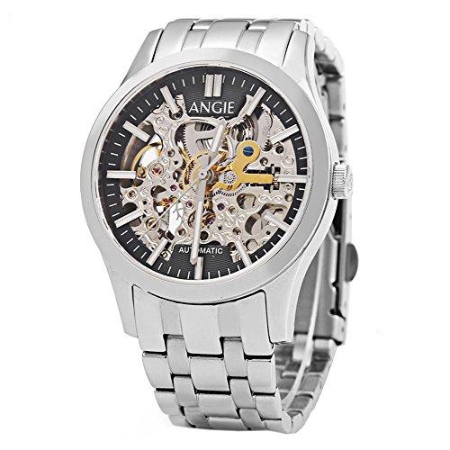 Leopard Shop Angie st7183l frederis Serie automatische Wind Mechanische Uhr Hollow Zifferblatt Luminous 5 ATM Sport 3