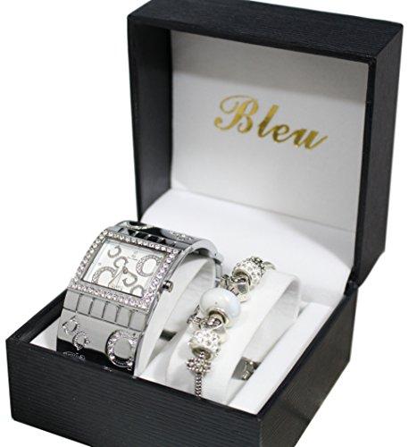 Giorgio Dario Damenuhr Armband Geschenkbox mit Charm Perlen Kollektion Dolce Vita