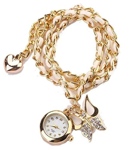 Charmstwatch Goldene Bettelketten Uhr