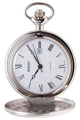 gb21220 rhodiniert Full Hunter Quarz Uhrwerk Roemisches Zifferblatt weisses Zifferblatt