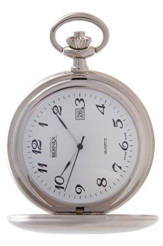 gb21233 rhodiniert Full Hunter Quarz Uhrwerk Arabisch Zifferblatt weisses Zifferblatt