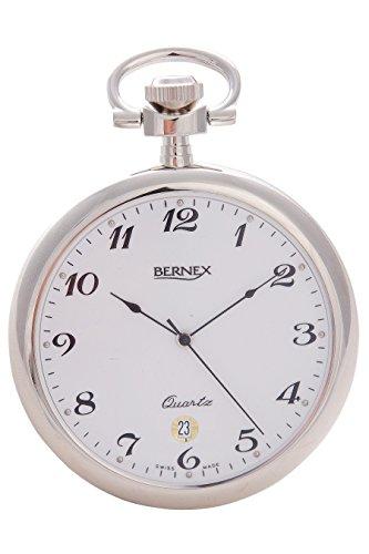 gb21230 rhodiniert Open Face quarz Uhrwerk Arabisch Zifferblatt weisses Zifferblatt