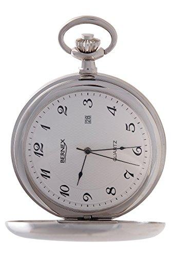 gb21224 rhodiniert Full Hunter Quarz Uhrwerk Arabisch Zifferblatt weisses Zifferblatt