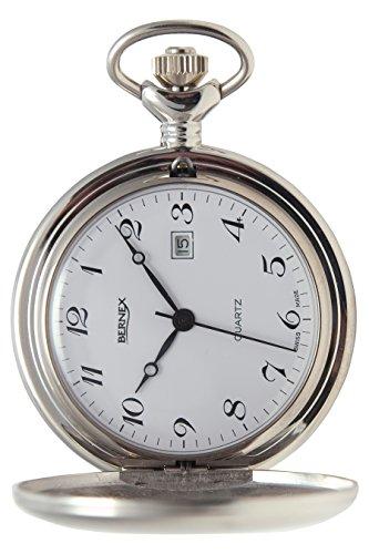 gb21222 rhodiniert Full Hunter Quarz Uhrwerk Arabisch Zifferblatt weisses Zifferblatt