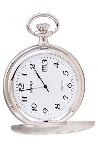 gb21218 rhodiniert Full Hunter Quarz Uhrwerk Arabisch Zifferblatt weisses Zifferblatt