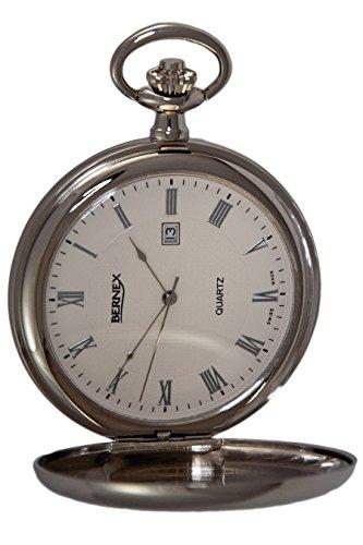 gb21223 rhodiniert Full Hunter Quarz Uhrwerk Roemisches Zifferblatt weisses Zifferblatt
