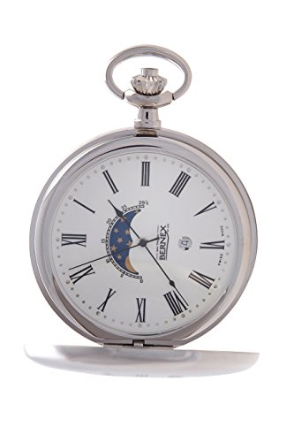gb21206 rhodiniert Full Hunter Quarz Uhrwerk Roemisches Zifferblatt weisses Zifferblatt