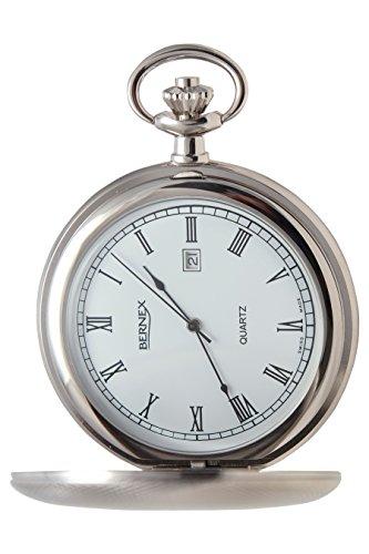 gb21204 rhodiniert Full Hunter Quarz Uhrwerk Roemisches Zifferblatt Strukturierte Zifferblatt