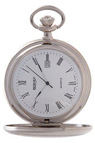 gb21215 rhodiniert Full Hunter Quarz Uhrwerk Roemisches Zifferblatt Strukturierte Zifferblatt