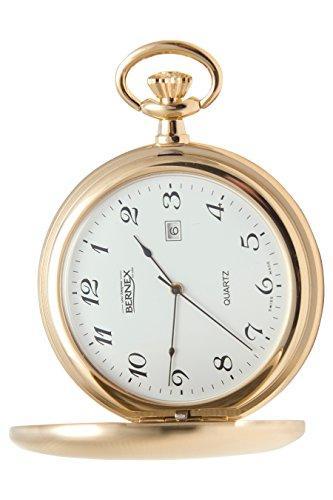 gb21118 vergoldet Full Hunter Quarz Uhrwerk Roemisches Zifferblatt weisses Zifferblatt