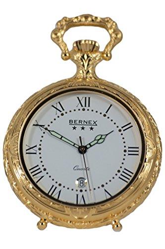 gb21110 vergoldet Open Face quarz Uhrwerk Roemisches Zifferblatt Strukturierte Zifferblatt