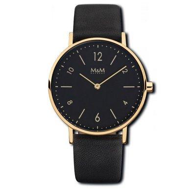BASIC 36 Uhr goldfarben schwarz