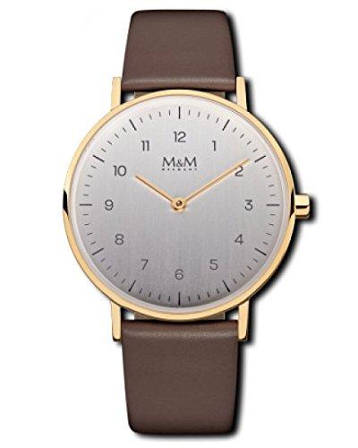 Best Basic 36 Uhr goldfarben silberfarben ML17694