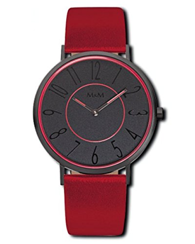 Color Blocking Uhr rot schwarz