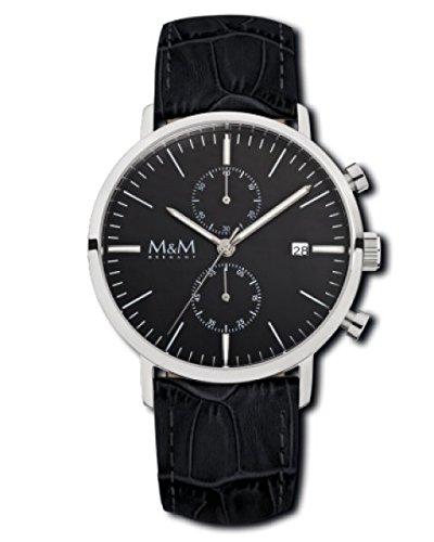 M M Damen und Chronograph Leder M11911 645 229