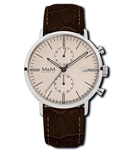 M M Damen und Chronograph Leder M11911 747 229