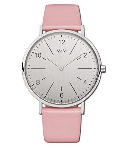 Modern Basic Uhr silberfarben hellrosa