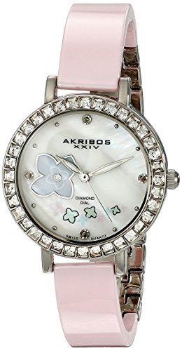 Akribos XXIV Keramik Analog Display Swiss Quarz Rosa