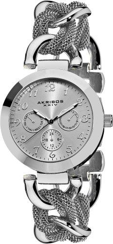 Akribos XXIV Multifunktions Mesh Link Armband