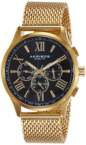 Akribos XXIV Herren Armbanduhr Man AK844YGB Analog Quarz