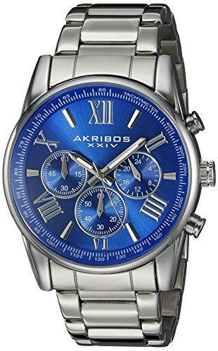 Akribos XXIV Herren Armbanduhr AK865SSBU Analog Quarz