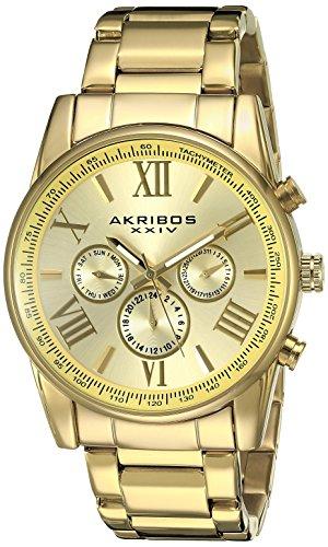 Akribos XXIV Herren Armbanduhr Analog Quarz AK904YG