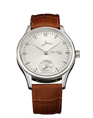 Helice Classic Premium Armbanduhr fuer Herren 43 mm silberfarben