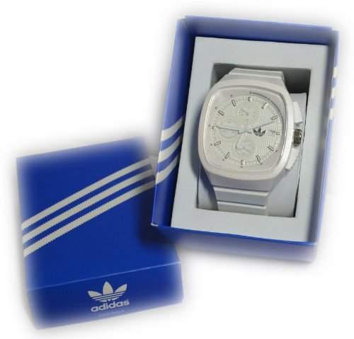 Adidas Unisex-Armbanduhr Farbe weiss im Geschenkkarton