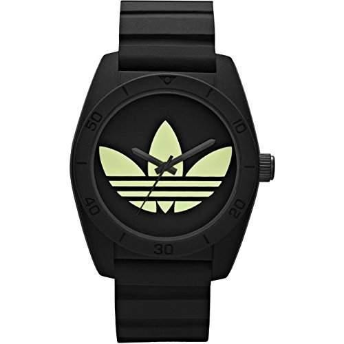 Adidas ADH2853 SANTIAGO Uhr Unisex Kautschuk Kunststoff 50m Analog schwarz