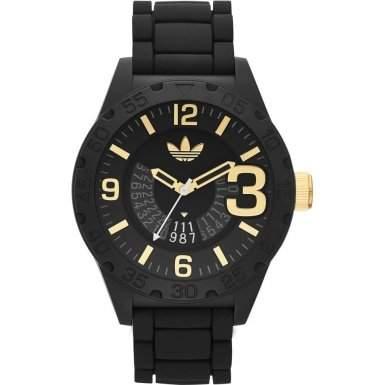 Adidas Herren-Armbanduhr Analog Quarz Silikon ADH3011