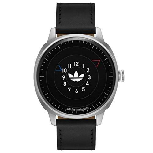 Adidas ADH3126 SAN FRANSICO Uhr Lederarmband Edelstahl 10 Bar Analog schwarz