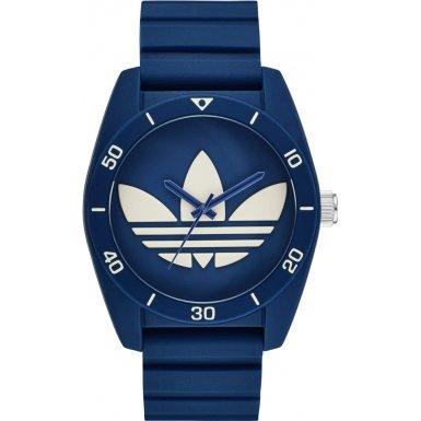 Adidas ADH3138 SANTIAGO Uhr Kautschuk Kunststoff 50m Analog blau