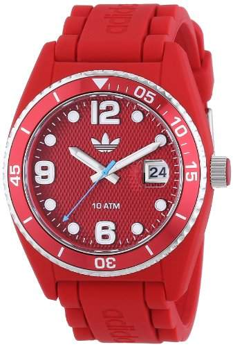 adidas Herren-Armbanduhr XL Analog Quarz Silikon ADH6152