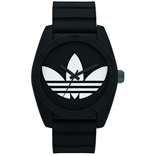 Adidas ADH6167 SANTIAGO Uhr Kautschuk Kunststoff 50m Analog schwarz